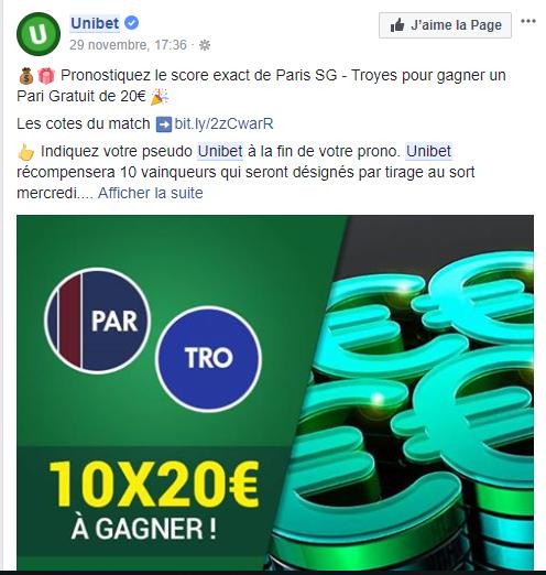 Pari gratuit Unibet : Place tes paris sans dépenser un centime !