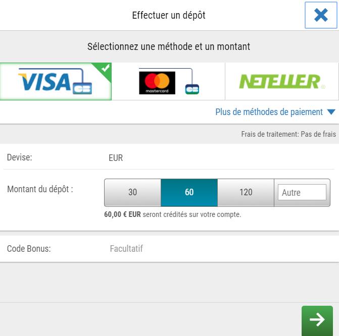 S'inscrire et ouvrir un compte sur Betstars