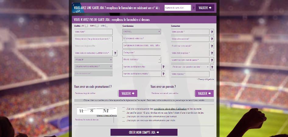 Comment s'inscrire et créer son compte sur Joa Online