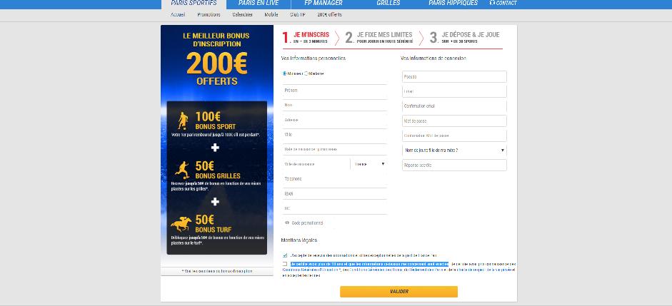 Les étapes pour créer et ouvrir un compte sur France-Pari