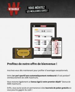 Guide Bonus et promotions Winamax
