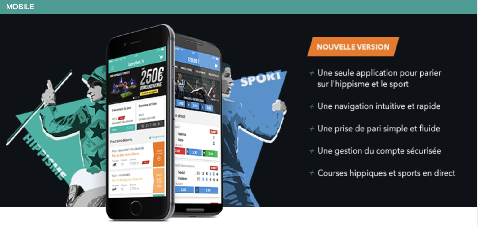 Application mobile Genybet : Toutes les infos