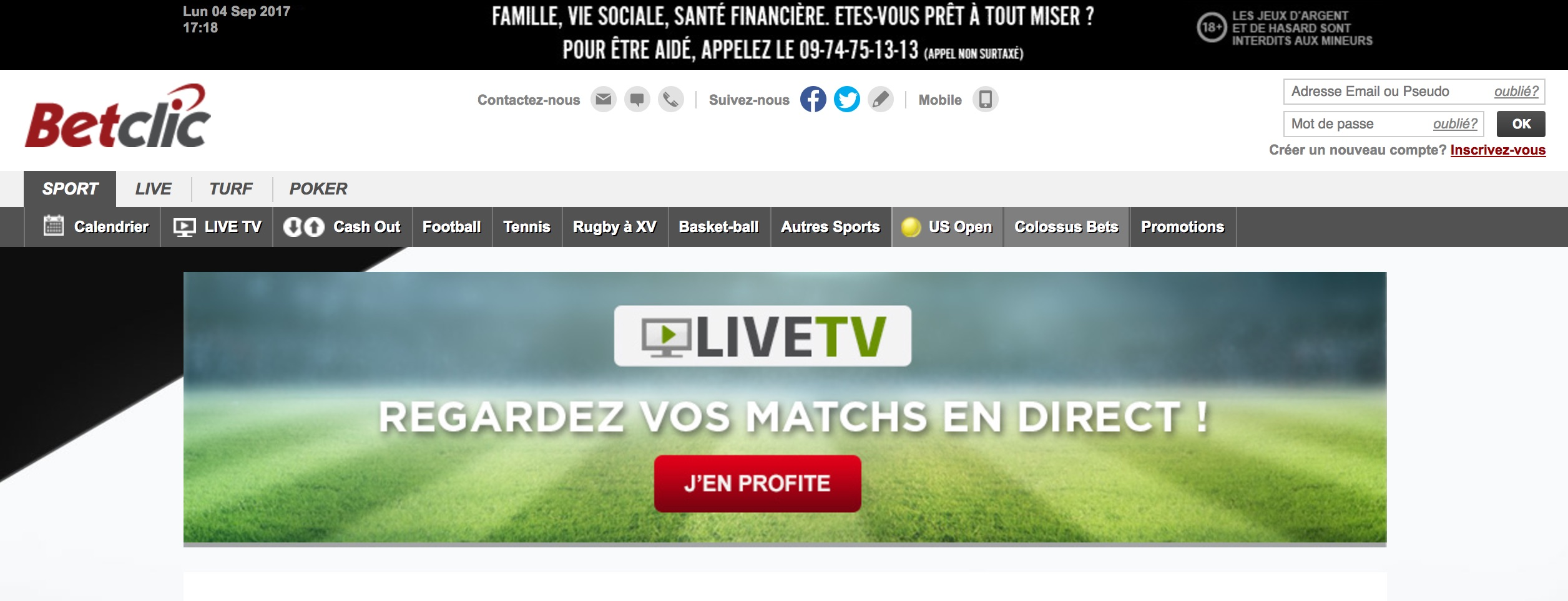 Comparatif de l'offre légale de streaming des bookmakers