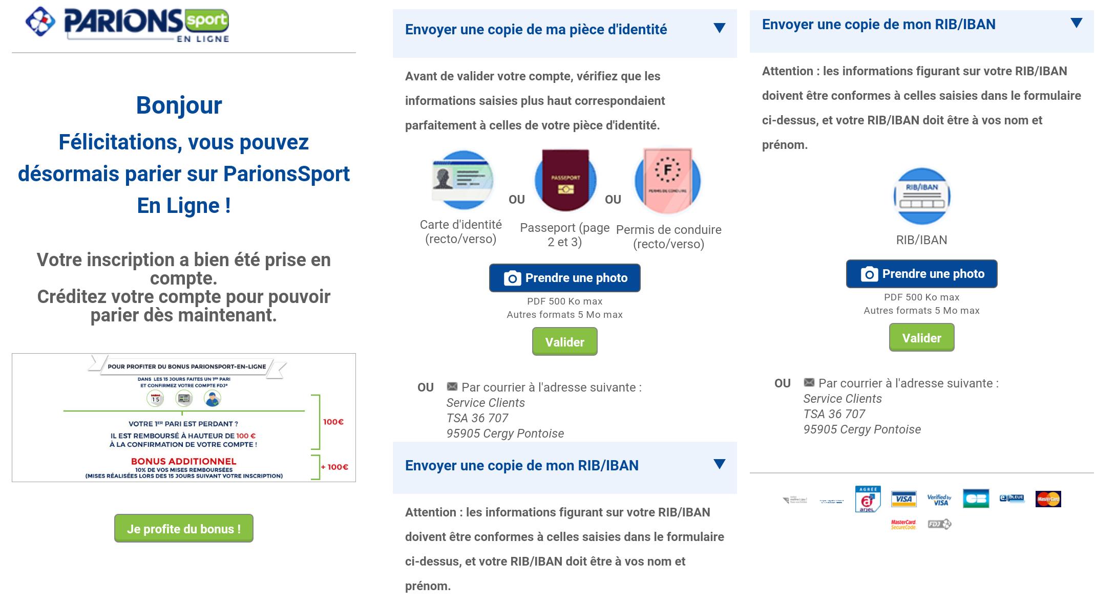 100€ de bonus Cash offerts sur Parions Sport – Avis sur les bonus et promos de bienvenue