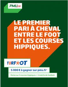 Turfoot de PMU – La promo mélange course et paris sportifs