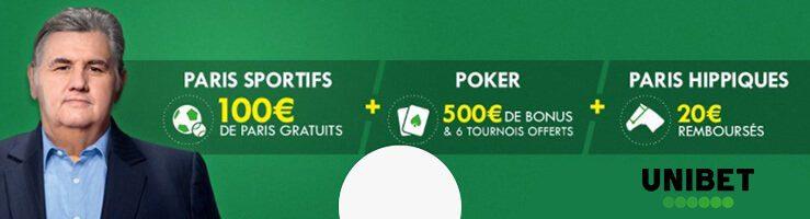 free bet Unibet